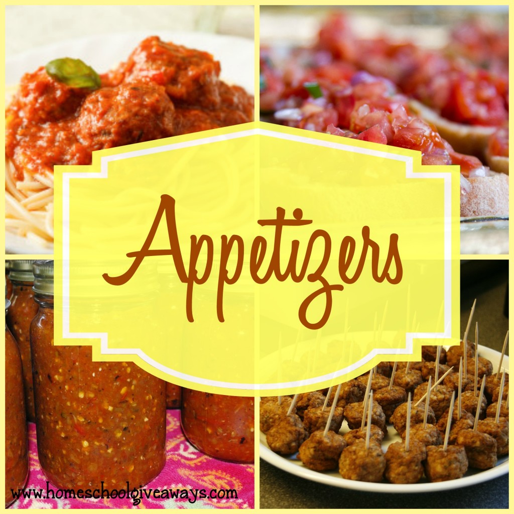 20+ Appetizers to share with friends and family!! :: www.homeschoolgiveawawys.com