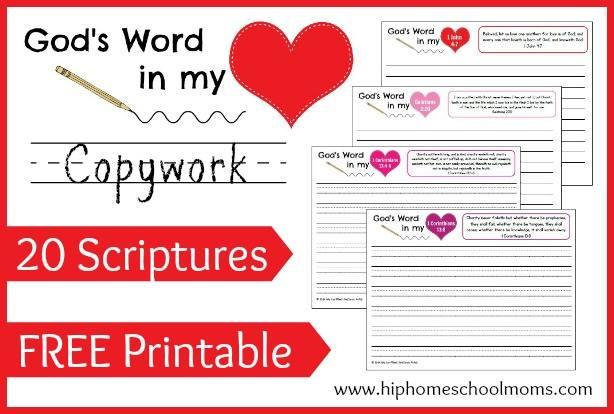 FREE Scripture Copywork