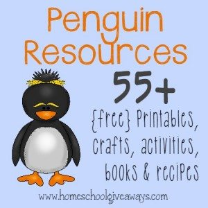 Penguins are absolutely adorable and so much FUN to learn about!! Check out these 55+ printables, crafts, activities, books & recipes!! :: www.homeschoolgiveaways.com