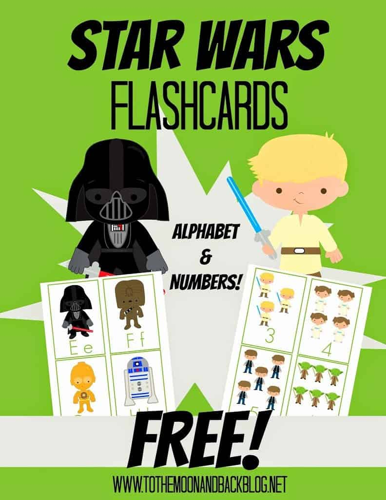 photograph about Star Wars Printable Cards called Totally free Printable Star Wars Flash Playing cards - Homeschool Giveaways