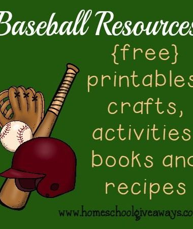 """Spring is upon us and Baseball season will soon be in full """"swing""""! Check out these fun resources to spark your kids love of learning!! :: www.homeschoolgiveaways.com"""