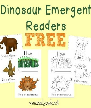 Little ones will enjoy practicing and learning to read with these fun and FREE Dinosaur Emergent Readers!! Includes both color and black and white options!! :: www.homeschoolgiveaways.com