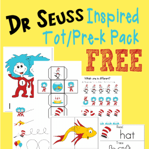 Little ones will enjoy Dr. Seuss Day with these fun and FREE Dr. Seuss inspired Tot Pack and Emergent Reader printables!! :: www.homeschoolgiveaways.com
