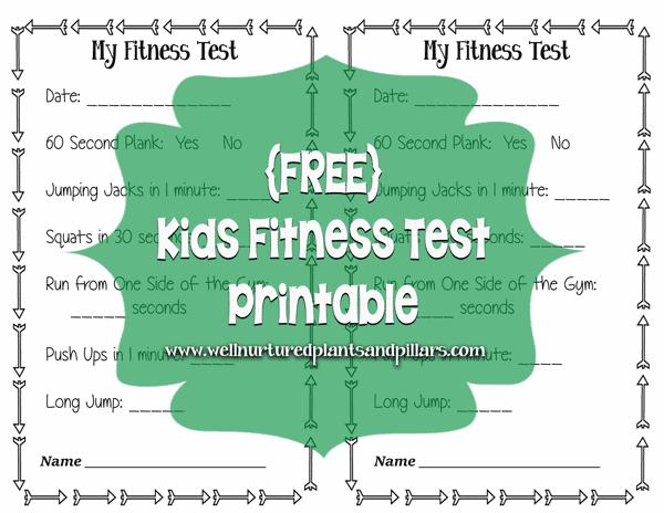 free kids fitness test printable. Black Bedroom Furniture Sets. Home Design Ideas