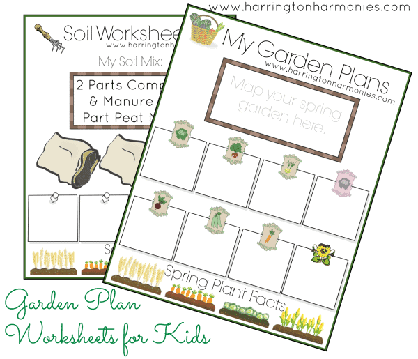 Impertinent image with garden planning worksheet