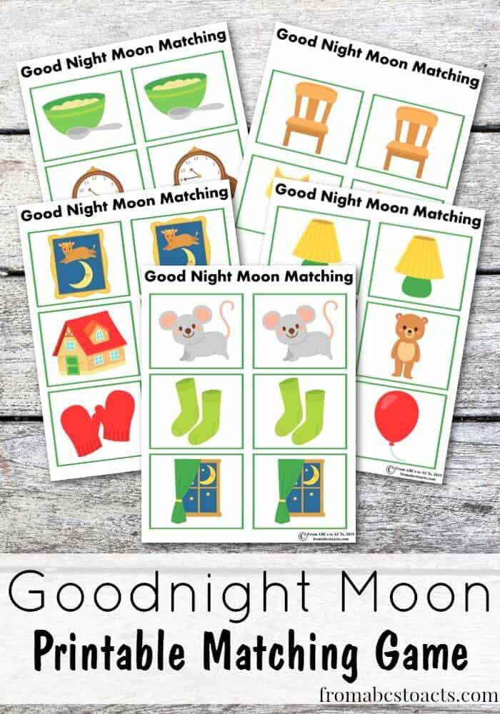 FREE Printable Goodnight Moon Matching Game