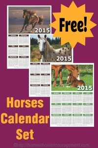 Horse-Themed-Free-Printable-Calendar-Set-PIN1
