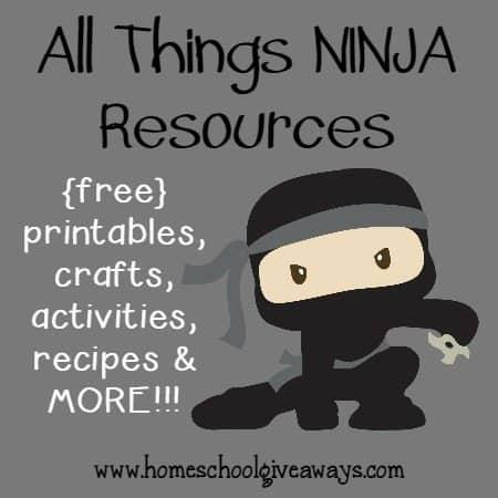 photograph relating to Ninja Printable titled All Variables NINJA Materials ~ printables, crafts, recipes