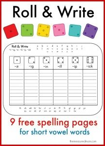 Roll-Write-for-short-vowel-words