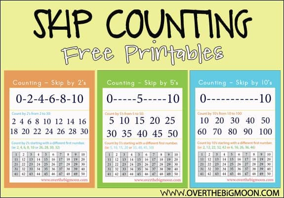 FREE Skip Counting Printables