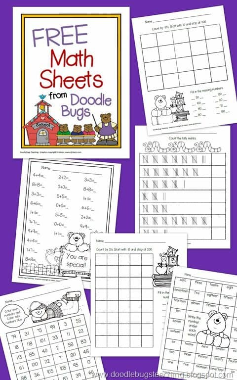 FREE K-1st Grade Math Worksheets - Homeschool Giveaways