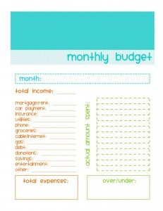 FREE Monthly Budgeting Worksheet www.homeschoolgiveaways.com Teach your high schooler to budget using this free downloadable worksheet!