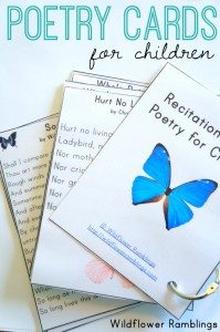 FREE Poetry Recitation Cards www.homeschoolgiveaways.com Grab these free poetry recitation cards and add some fun to your poetry lessons!