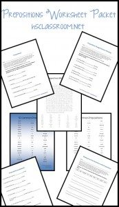FREE Prepositions Worksheets for Middle School www.homeschoolgiveaways.com Grab this freebie pack to review prepositions with your middle school students!