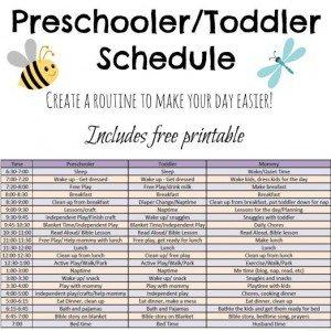 preschoolertoddlerschedule
