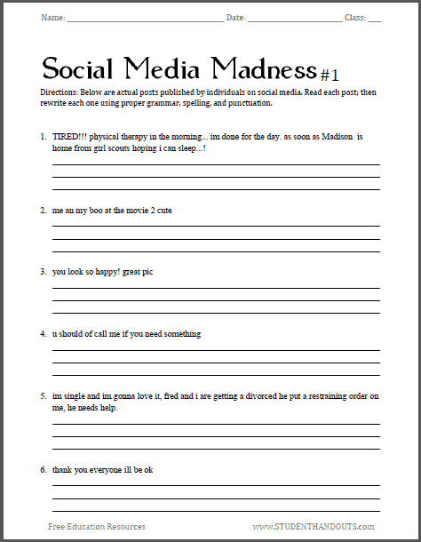 math worksheet : social skills worksheets for middle school  khayav : Fun Math Worksheets High School