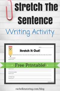 FREE Writing Worksheet for Upper Elementary www.homeschoolgiveaways.com Work on sentence writing with your upper elementary-aged kids!