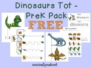FREE Dinosaurs Tot Pack