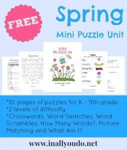 FREE Spring Mini Puzzle Unit