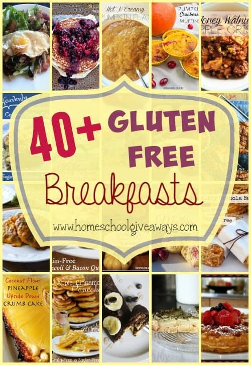 Need some more variety in your breakfast rotation? Try some of these 40+ Gluten-Free Breakfasts!! :: www.homeschoolgiveaways.com