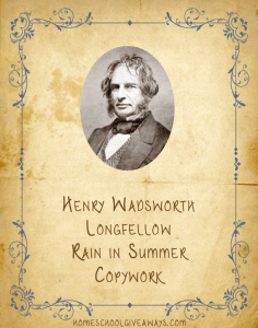 Henry Wadsworth Longfellow Copywork