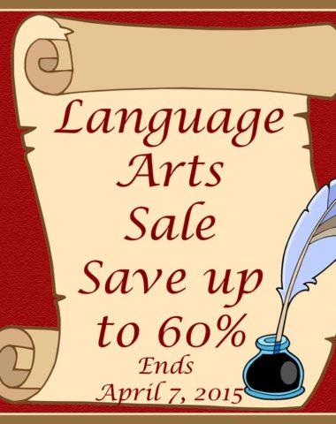 Language Arts Sale