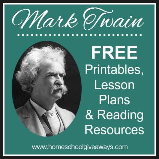 mark twain free printables lesson plans and reading resources