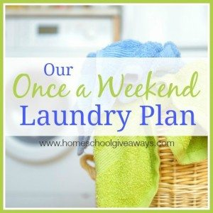 Once a week laundry plan