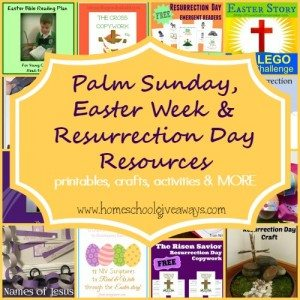 Here are some great printables, crafts, activities, recipes & MORE to help prepare the hearts of your children for Resurrection Day. :: www.homeschoolgiveaways.com