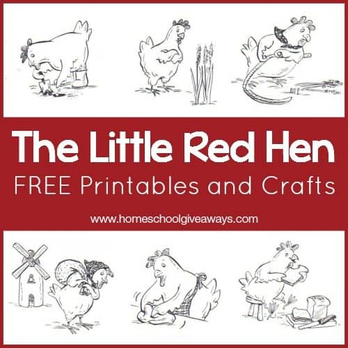 The Little Red Hen FREE Printables and Crafts!