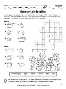 FREE Geometry Worksheet www.homeschoolgiveaways.com TEach geometry in a fun way with this crossword worksheet!