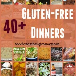 Looking for some delicious and easy-to-make Gluten-Free Dinners? Check out these 40+ recipes!! :: www.homeschoolgiveaways.com