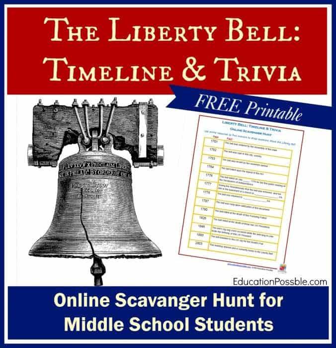 Free printable liberty bell scavenger hunt www homeschoolgiveaways com