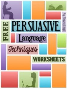FREE Worksheets ~ Persuasive Language www.homeschoolgiveaways.com Your students will learn all about persuasive language with these worksheets!