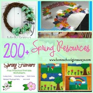 Spring is officially just days away!! Get ready with these great Spring Resources!! {free} printables, crafts, activities & MORE!! :: homeschoolgiveaways.com