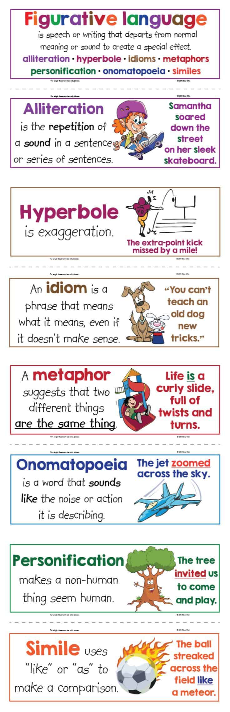Free Printable Figurative Language Anchor Chart Ilrated Posters Homeschool Giveaways