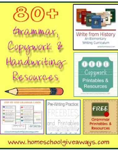 80+ Grammar Copywork Handwriting Resources for Homeschool