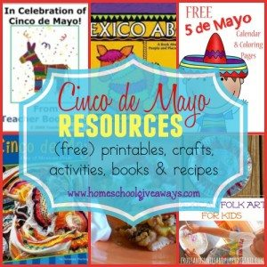 Kids will enjoy celebrating Cinco de Mayo with these fun resources!! Includes {free} printables, crafts, recipes & MORE!! :: www.homeschoolgiveaways.com