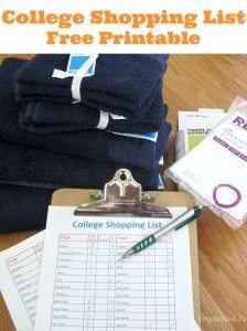 FREE Printable College Shopping List www.homeschoolgiveawyas.com Grab this FREE college shopping list to help you as you plan for your graduates needs!