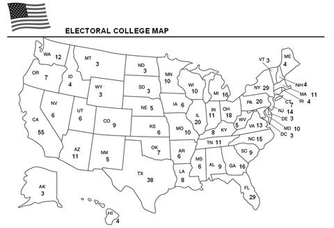 Universal image with electoral map printable