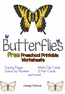 Free-Preschool-Printable-Worksheets-Butterflies