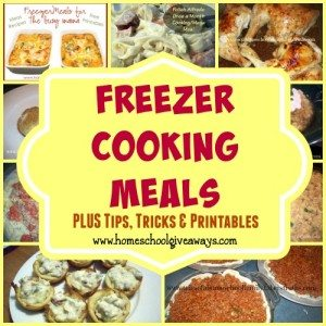 Freezer Meals are the perfect way to save money, time and take the headache out of dinner!! Check out this round-up of over 300 meals, tips, tricks & {free} Printables!! :: www.homeschoolgiveaways.com