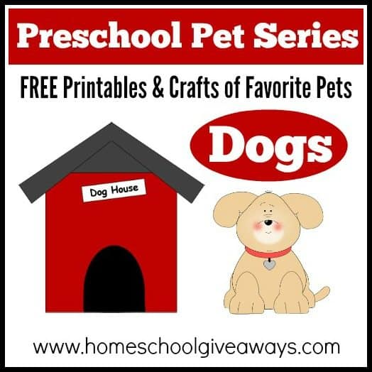 Preschool Pet Series FREE Printables