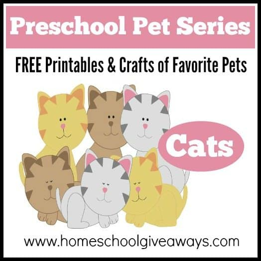 pet series free printables and crafts of favorite pets cats
