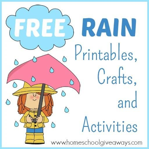 FREE Rain Printables, Crafts and Activities!