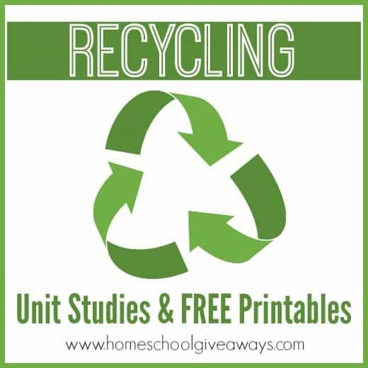 Recycling Unit Studies and Printables