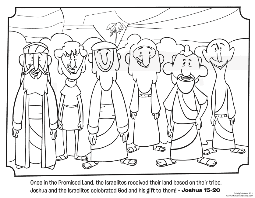 israelites and the promised land coloring pages | FREE Joshua, Judges, & Ruth Coloring Pages