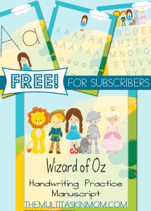 Wizard-of-Oz-Handwriting-Practice-FREEBIE
