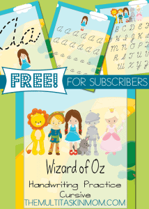 Wizard-of-Oz-Handwriting-Practice-FREEBIE-Cursive-Edition