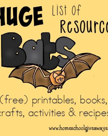 Check out this HUGE list of Bats Resources - including {free} printables, recipes, books, crafts & activities!! :: www.homeschoolgiveaways.com